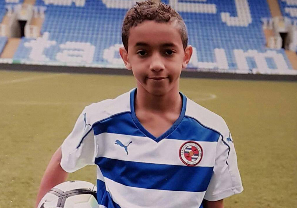 Alex Bourne in Reading FC kit. Photo: Neil Graham.