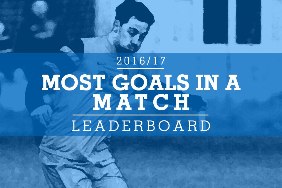 The 2016/17 'most goals in a game' leaderboard.