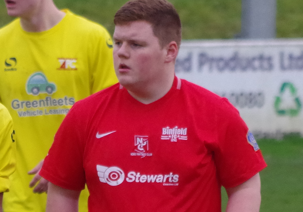 Binfield Youth Team captain Charlie Craske.