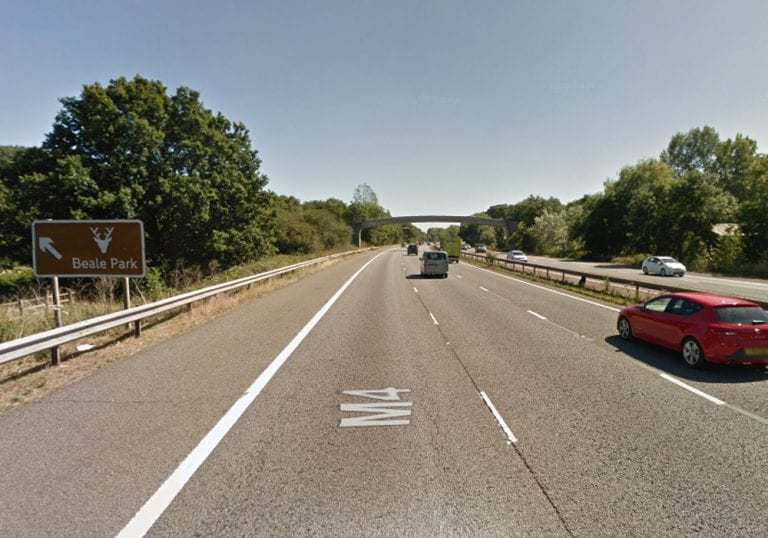 The M4 at Junction 12 in Reading. Photo: Google Streetview.
