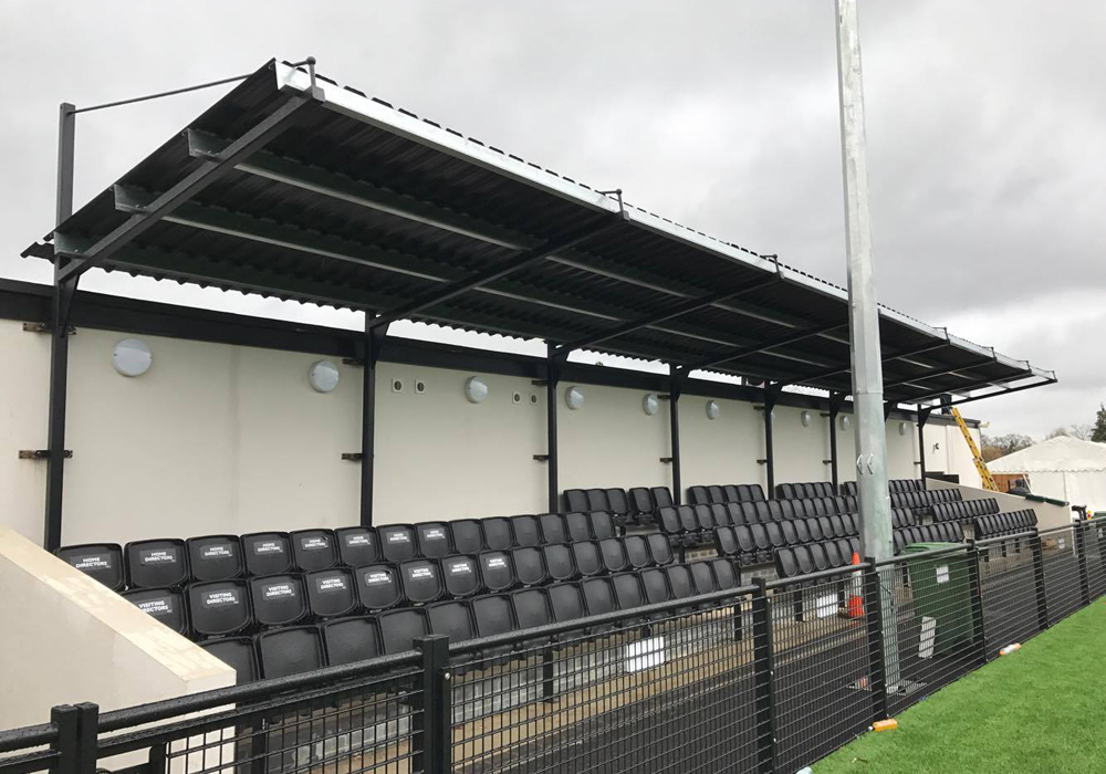 The impressive roof on the seated area at Larges Lane. Photo: @bracknelltownfc