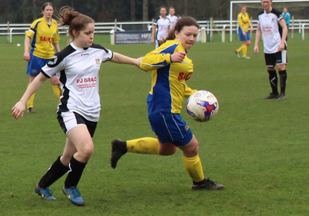 Ascot United Ladies striker Amy Woollard. Photo: Meg Stearn.