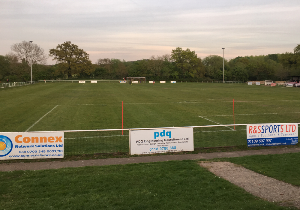 Binfield FC's Hill Farm Lane. Photo: Tom Canning.
