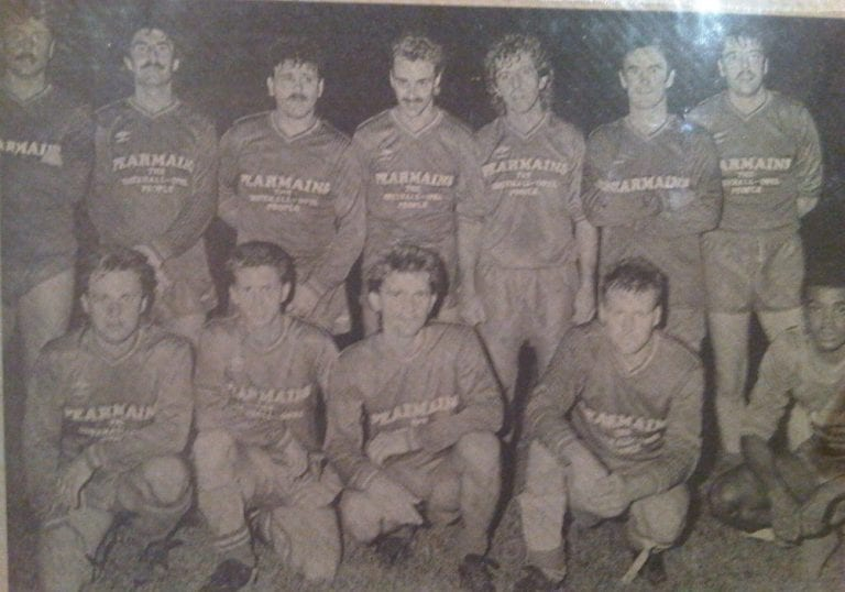 Bracknell Town in the late 1980s featuring Andy Findlay.