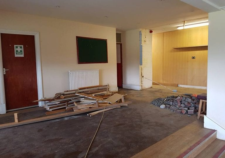 The clubhouse refurbishment at Binfield.