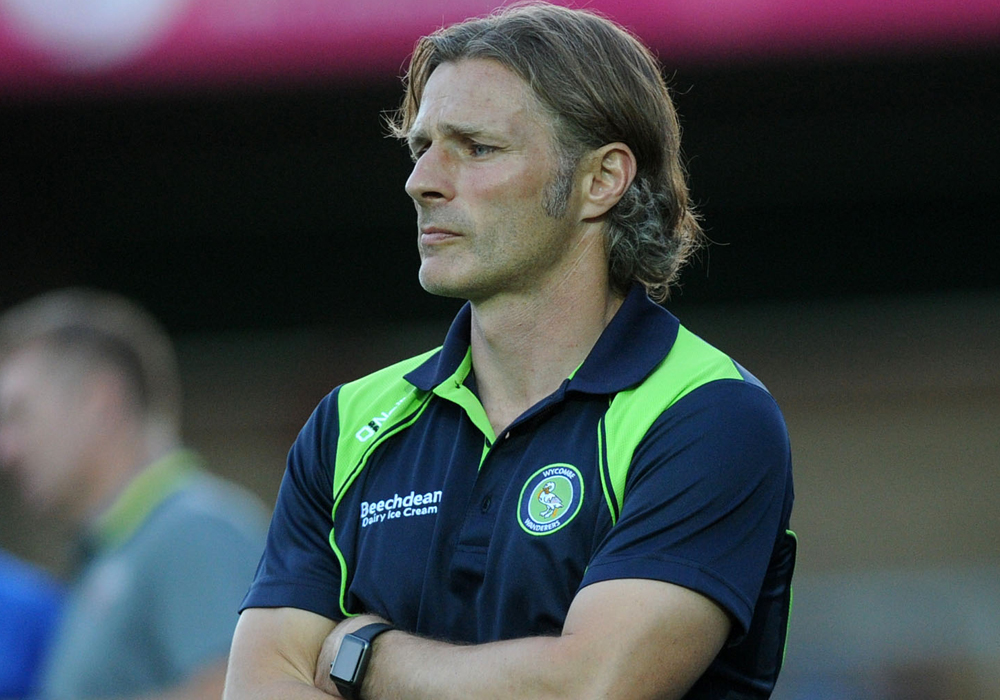 Wycombe Wanderers manager Gareth Ainsworth. Photo: Alistair Wilson (used with permission from getbucks.co.uk)