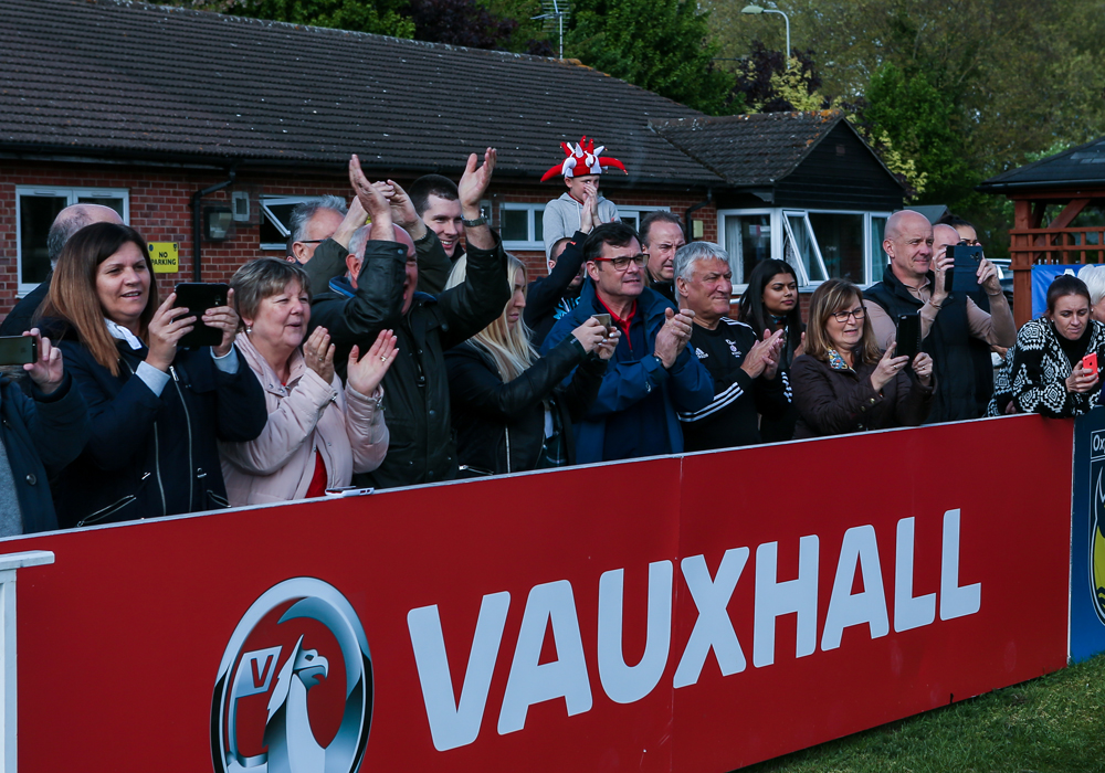 There are some long suffering Bracknell Town fans in this pic. Photo: Neil Graham.