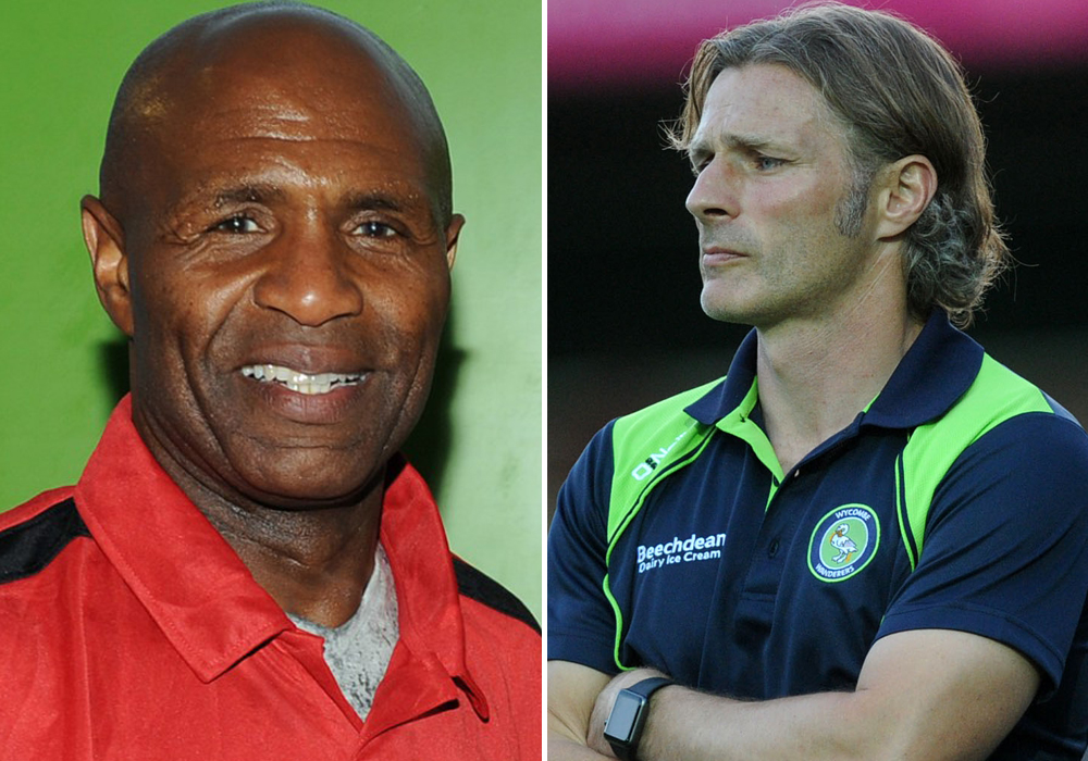 Luther Blissett and Gareth Ainsworth.