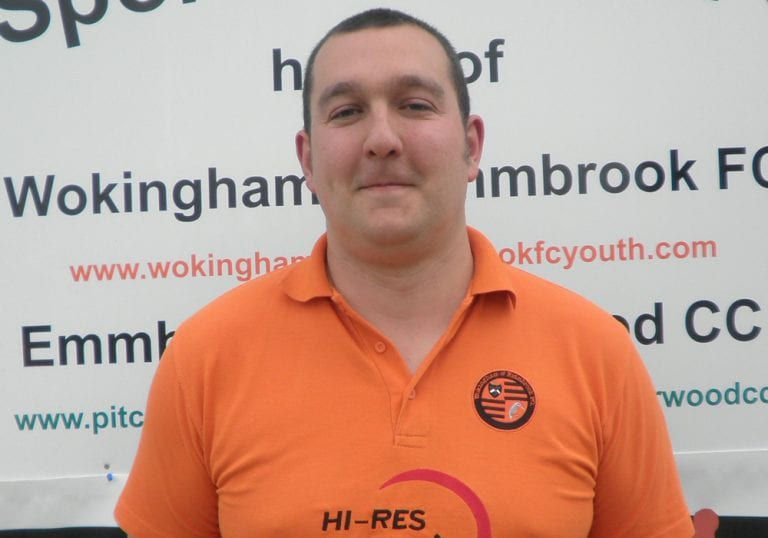Wokingham & Emmbrook manager Dan Bateman. Photo: getreading.co.uk
