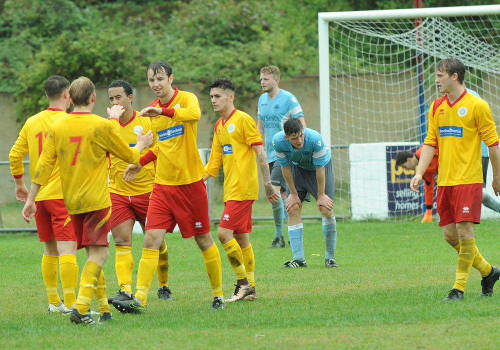 Woodley United played Premier Division Ardley United in the cup in 2016/17. Photo: Mark Pugh.