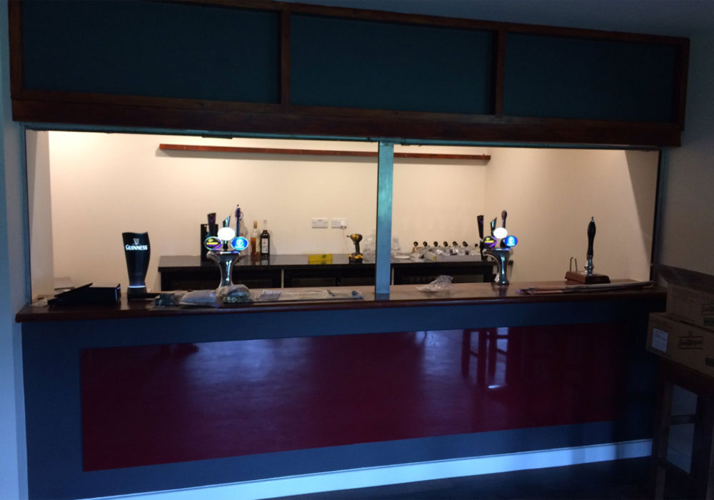 The new bar at Hill Farm Lane.