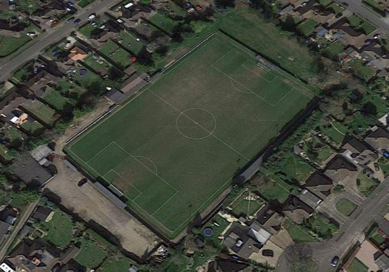 Flackwell Heath's Wilks Park ground from the air. Photo: Google Maps.