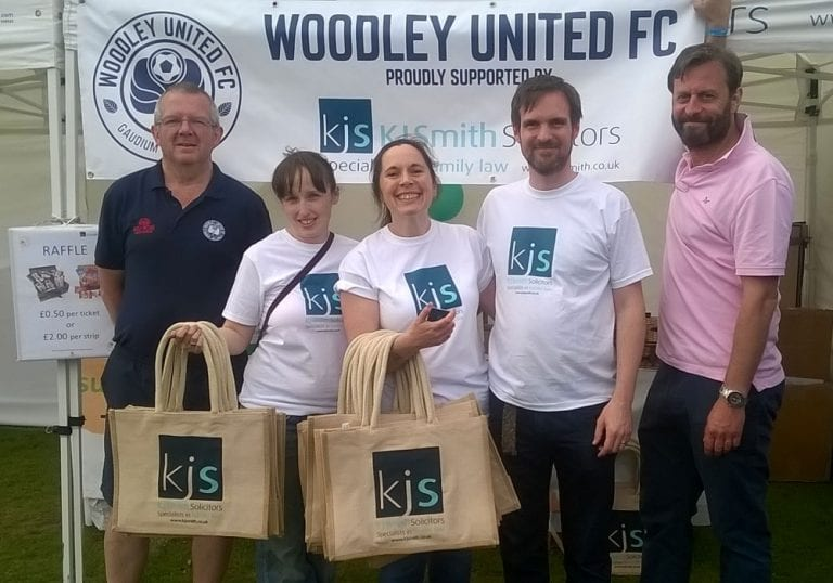 KJSmith solicitors continue partnership with Woodley United.