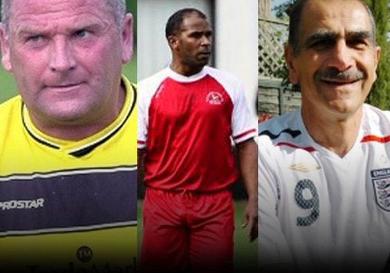 Some of the oldest footballers in Bracknell. Left to right: Tony Calvert, Keith Pennicott-Bowen and Henry Abrahamian.