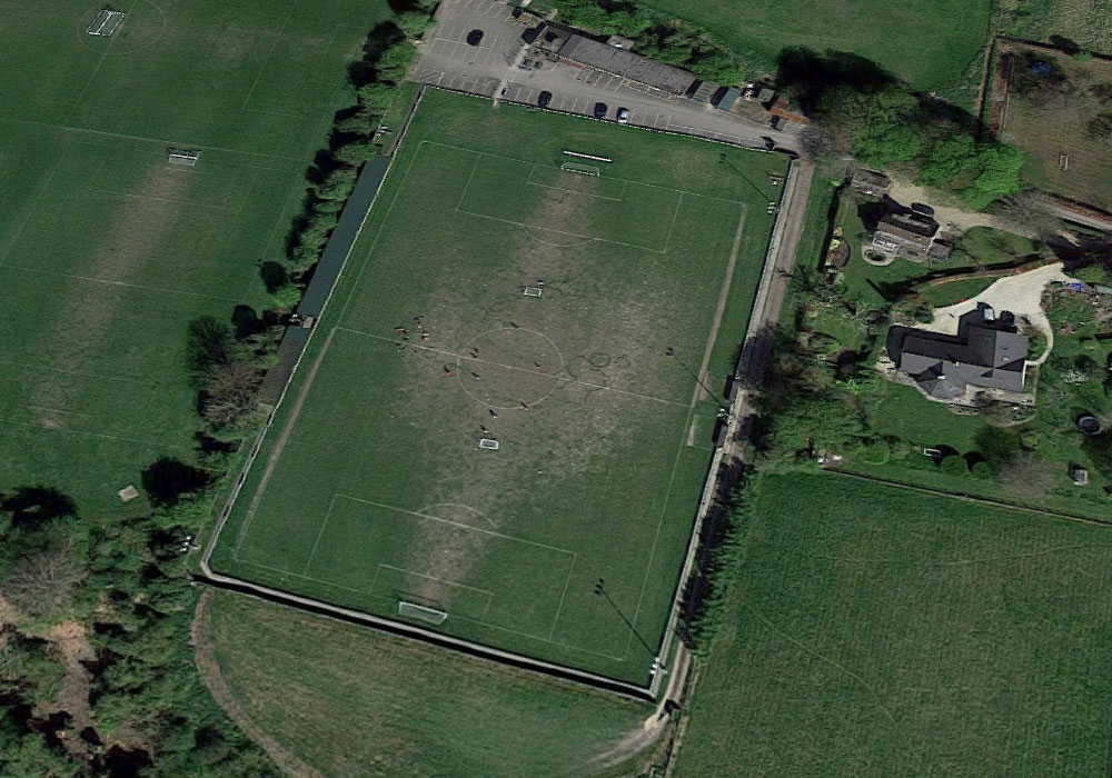 Wantage Town's Alfredian Park ground from the air. Photo: Google Maps.