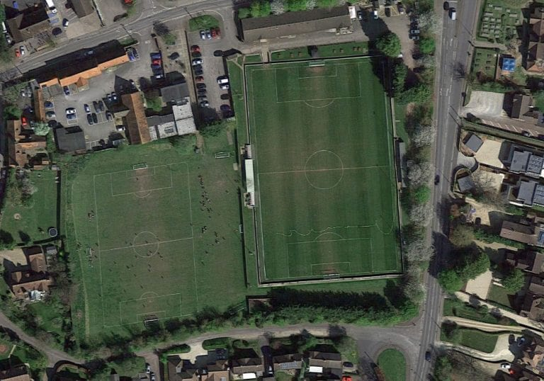 Abingdon United from the air. Google Maps.