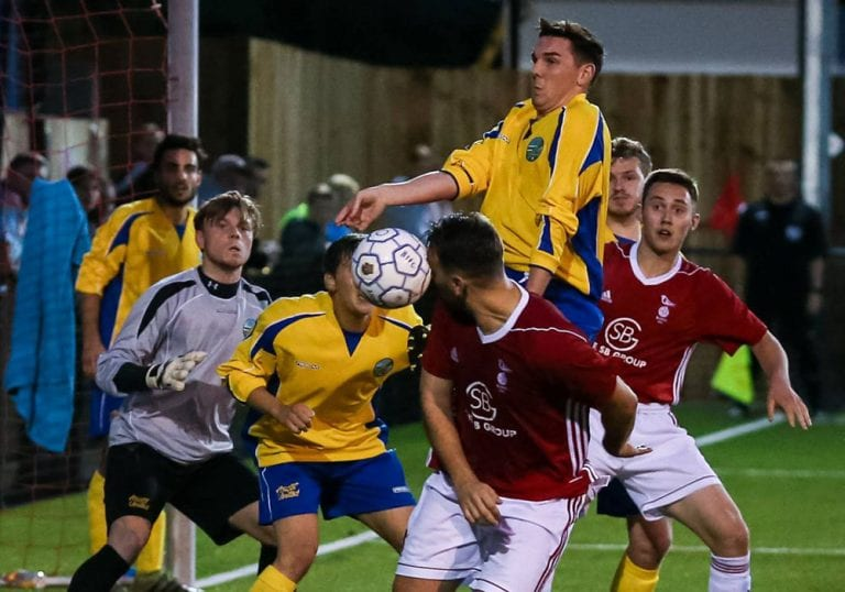 Action from Bracknell Town against Ascot United. Photo: Neil Graham.