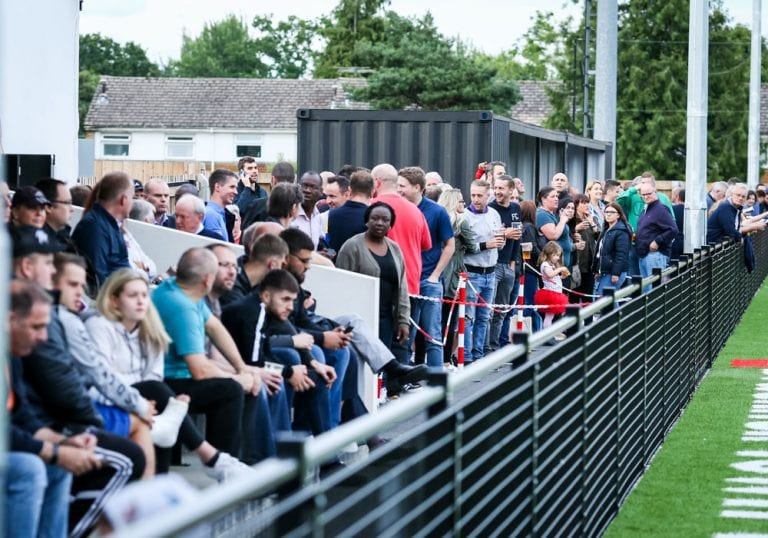 A big crowd at Bracknell Town's Larges Lane. Photo: Neil Graham.