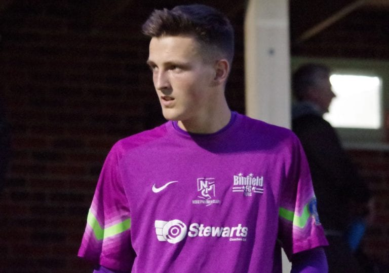 Binfield goalkeeper Charlie York. Photo: James Green.
