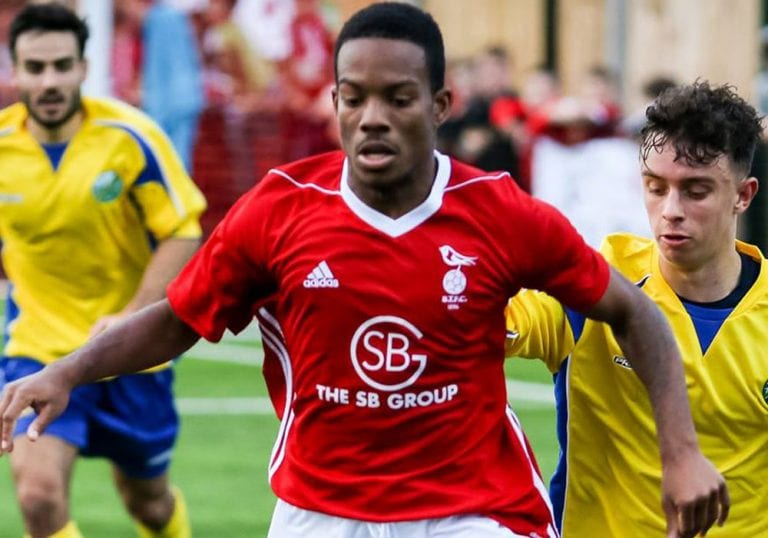 Bracknell Town winger Kensley Maloney. Photo: Neil Graham.