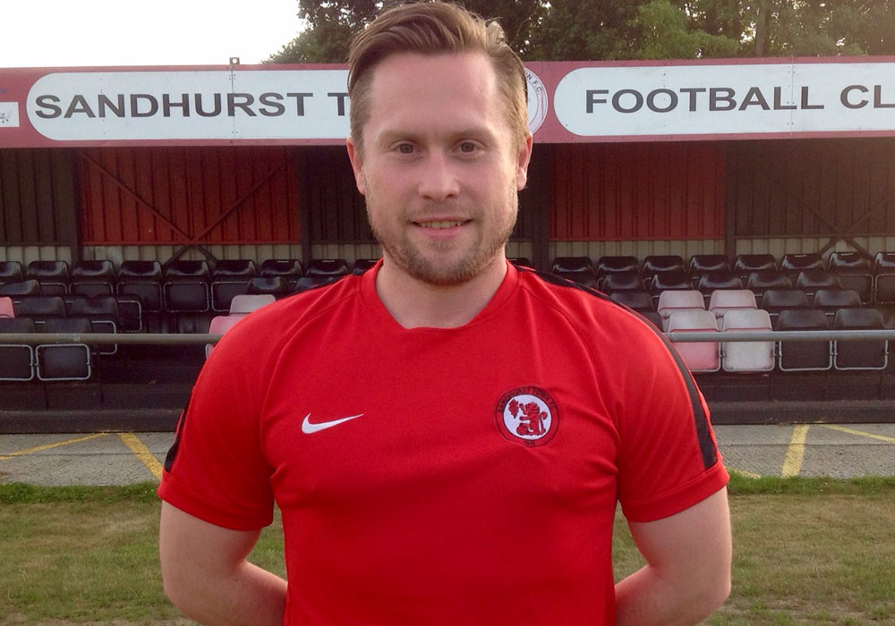 Sandhurst Town manager Luke Turkington. Photo: Sandhurst Town FC