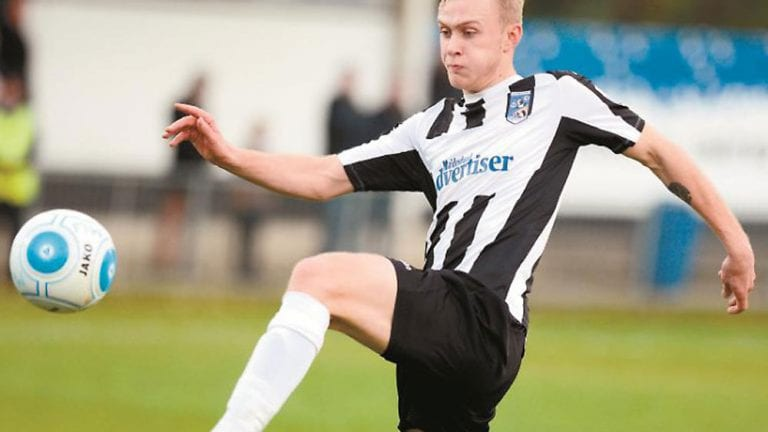 Sam Barratt in action for Maidenhead United. Photo: Maidenhead Advertiser.