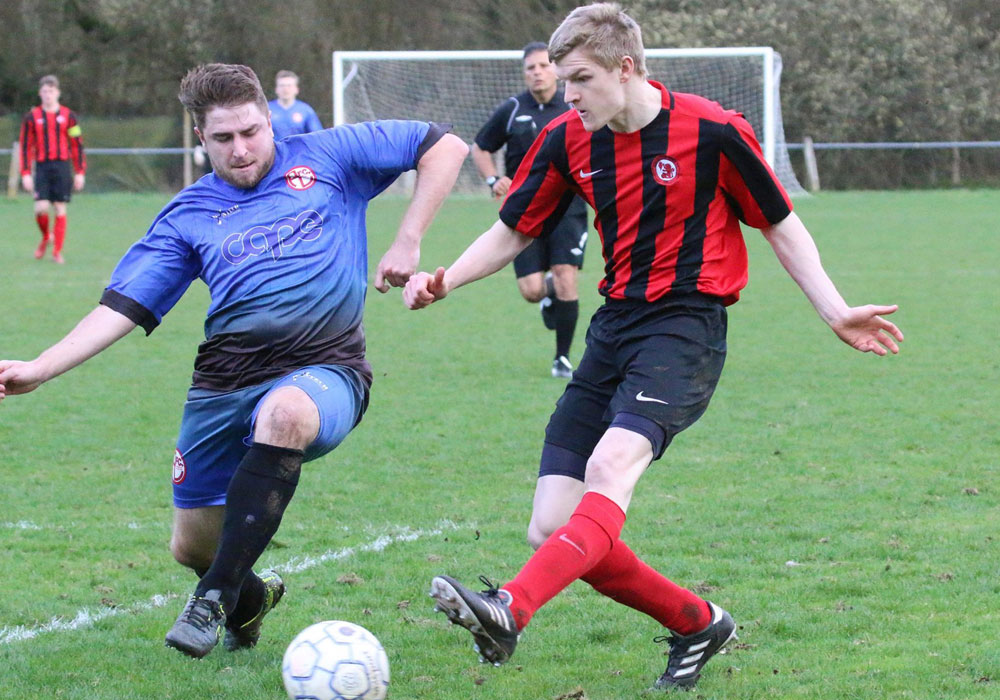 Action from Sandhurst Town against AFC Aldermaston in 2016/17. Photo: Simon Bryce.