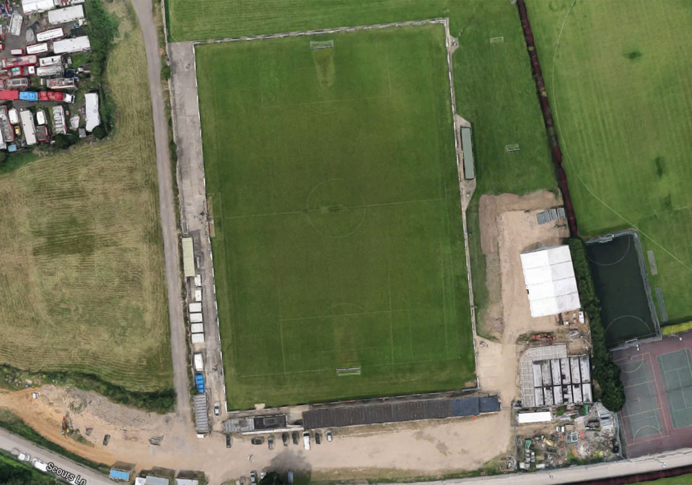 Woodley United play out of Scours Lane in Reading. Photo: Google Maps.