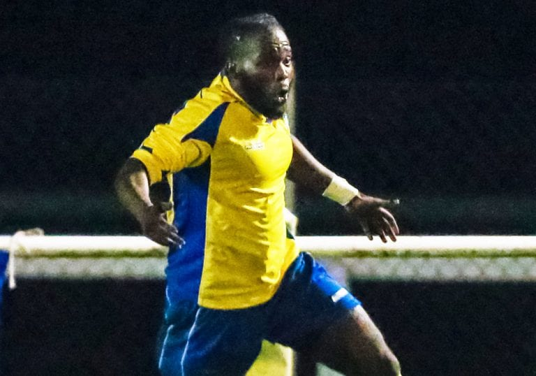 Ascot United's Cameron Gyeabour. Photo: Neil Graham.