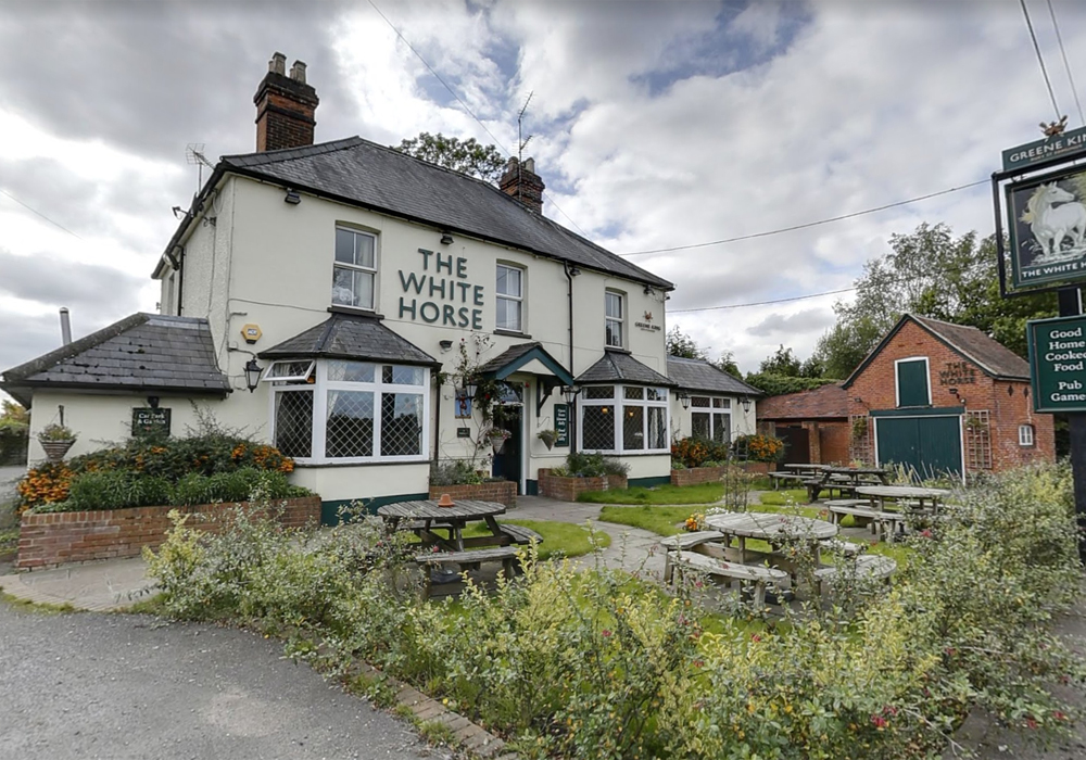 The White Horse Pub on Easthampstead Road, Wokingham. Photo: Google Streetview.