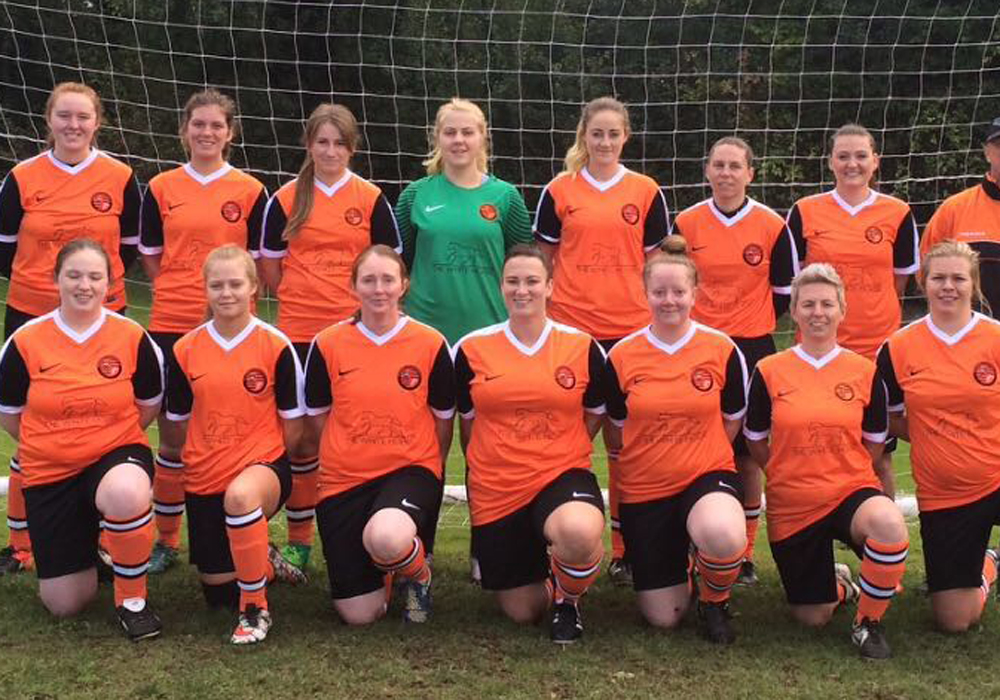 Wokingham & Emmbrook's new ladies team.