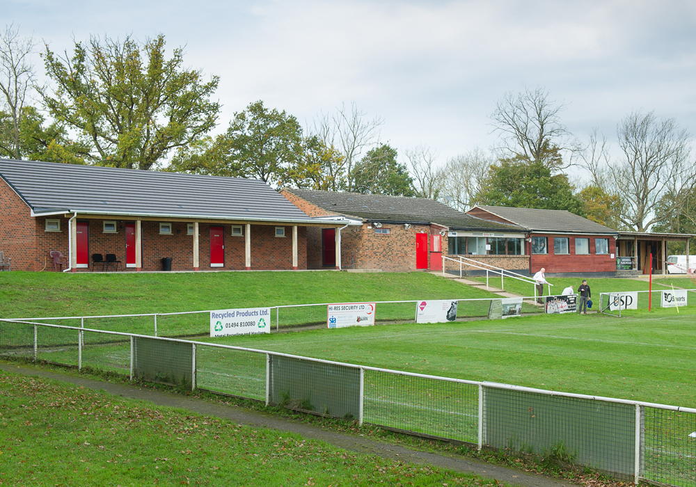 Open for business, Binfield's extended club house facilities. Photo: Colin Byers.