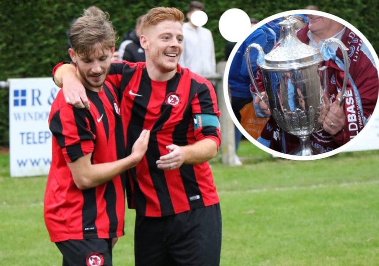 Charlie Oakley and Adam Barnard are dreaming of FA Cup glory. Photo: Richard Milam.