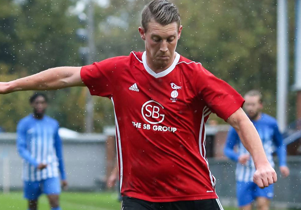 Bracknell Town striker TJ Bohane. Photo: Neil Graham.