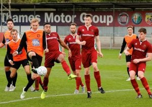 Virginia Water and Wokingham & Emmbrook clash at Stag Meadow in Division 1 East. Photo: Graham Tabor.