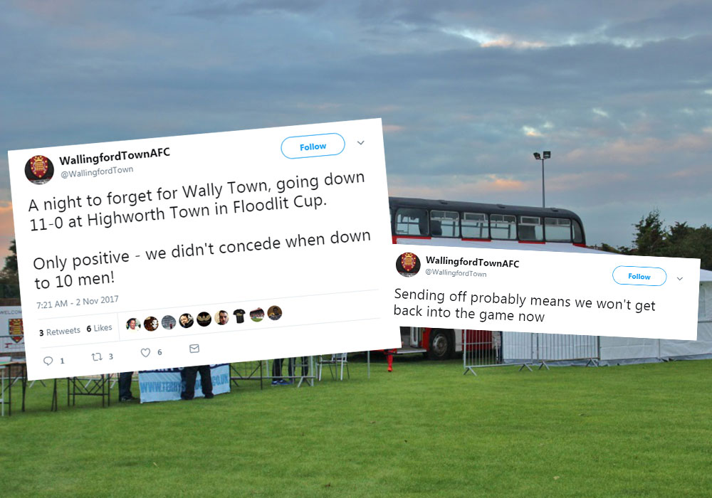 Wallingford Town show the way to react to a heavy defeat with some strong twitter work