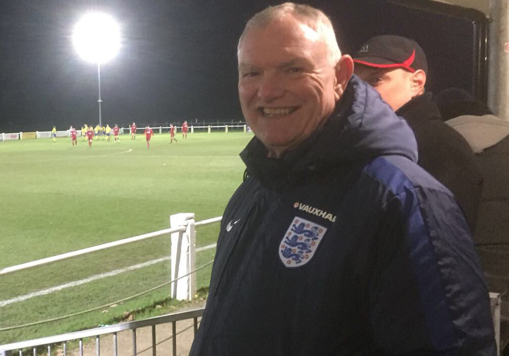 FA Chairman Greg Clarke at Ascot United. Photo supplied by the club.