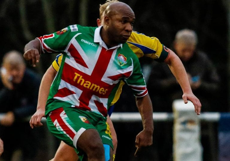 Windsor striker Barry Hayles. Photo: Neil Graham.