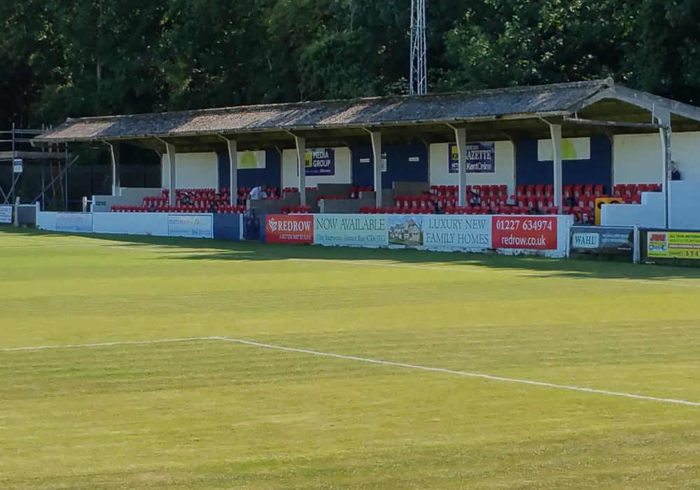 Altira Park Stadium, Herne Bay FC. Photo: Tony Hardy.