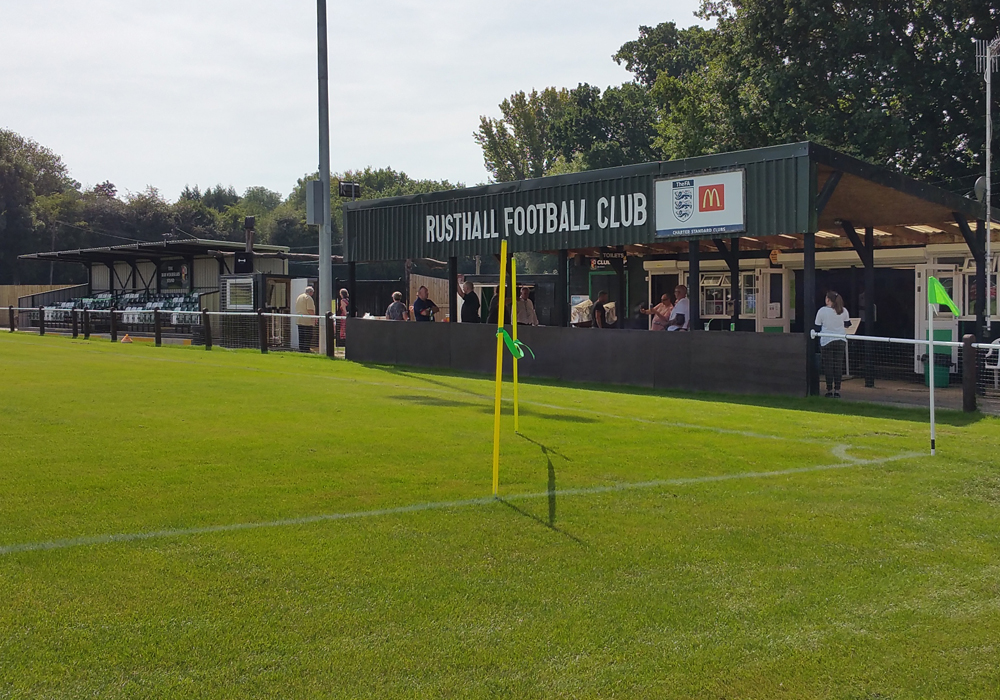 The Jockey Farm Stadium, Rusthall FC. Photo: Tony Hardy.