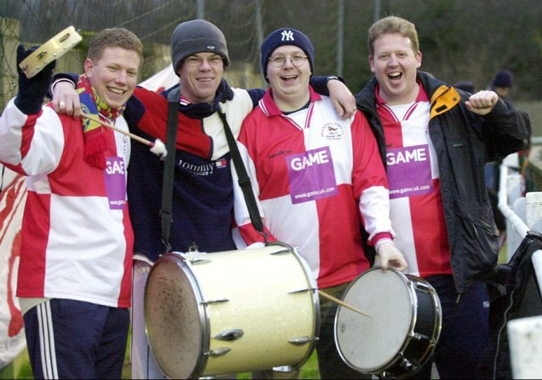 Bracknell Town fans in the 2000s.
