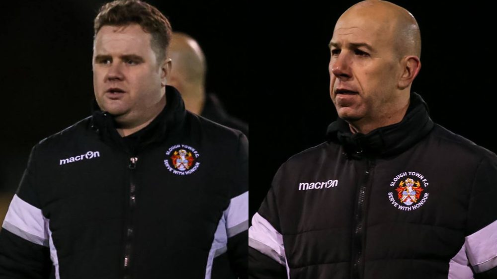 Neil Baker and Jon Underwood, Slough Town FC managers. Photo: Neil Graham.