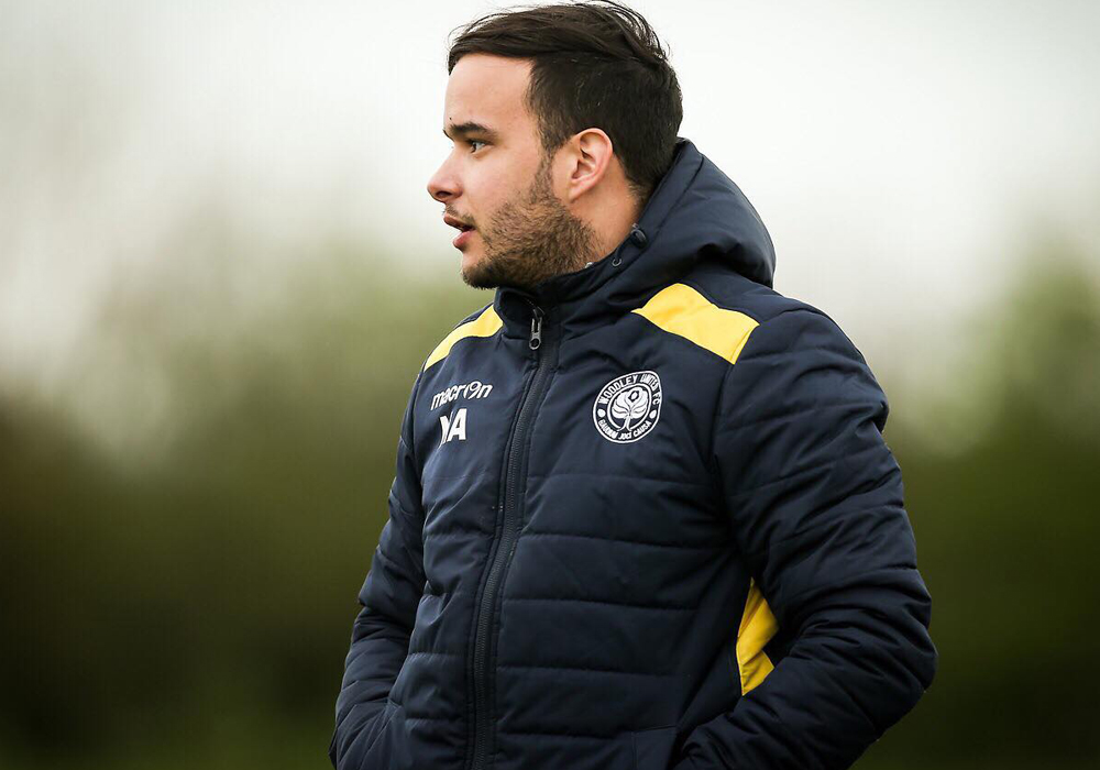 Nuno Antunes - Woodley United Ladies management team. Photo: Neil Graham.
