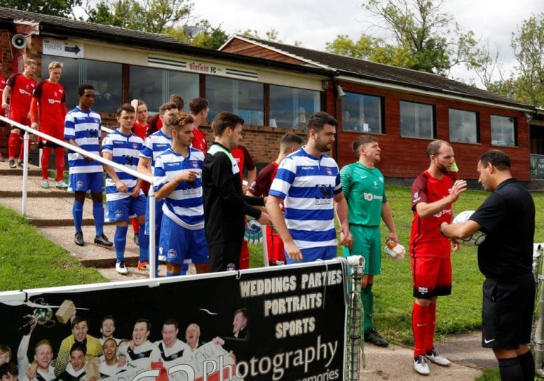 Oxford City Nomads line up at Binfield. Photo: Ade Hone.