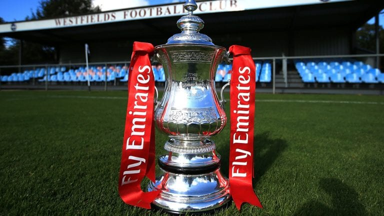 The Emirates FA Cup at the Fourth Qualifying Round match between Westfields and Leiston.