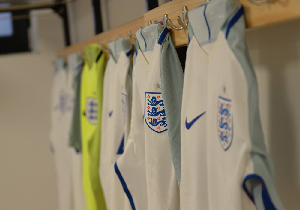 England shirts. Photo: David Loveday.