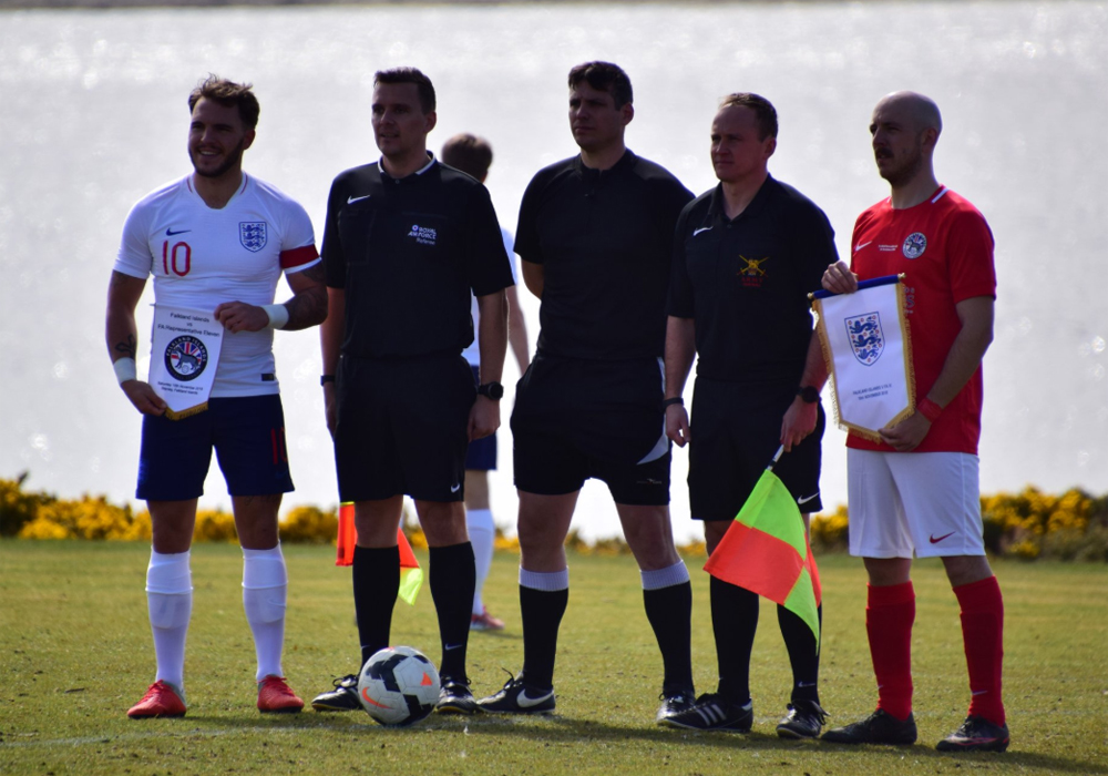 Mitchell Parker captains the FA Rep team. Photo: Jody Aldridge.