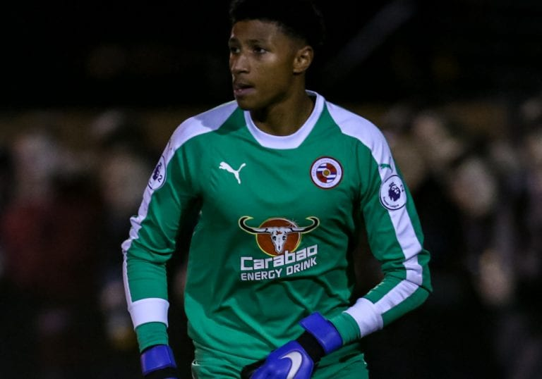 Young Reading FC goalkeeper Myles Roberts. Photo: Neil Graham.