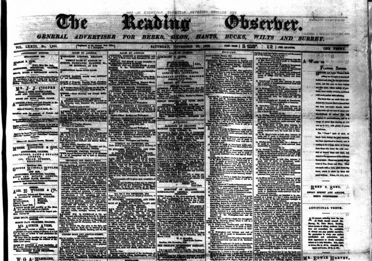 The Reading Observer from 28th November 1896.