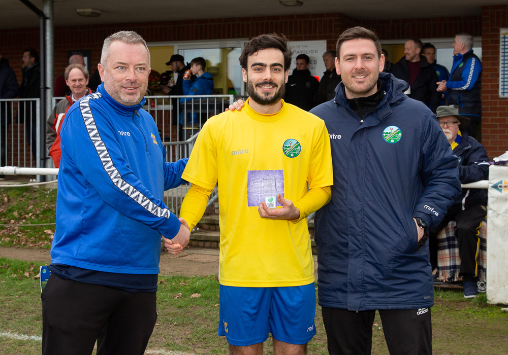 Jonny Denton marks 100 Ascot United appearances. Photo: Rob Mack/Shooting Stars.